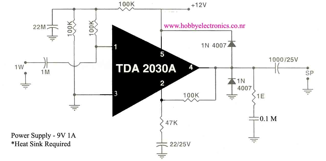 hobbyelectronics co nr audio amplifier using tda2030 rh roshidh 50webs com 40w audio amplifier ic 40w audio amplifier ic